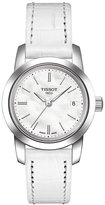 Tissot T0332101611100 28mm Stainless Steel Case White Leather Women's Watch