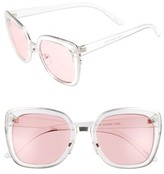 BP Women's Clear Square Sunglasses - Clear/ Red