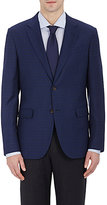 Barneys New York MEN'S CHECKED TWO-BUTTON SPORTCOAT-BLUE SIZE 38 R