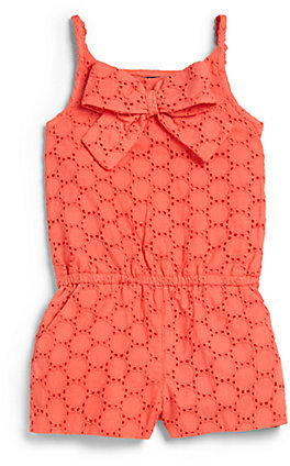 Lili Gaufrette Toddler's & Little Girl's Eyelet Romper