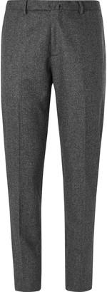 Boglioli Dark-Grey Melange Virgin Wool Suit Trousers
