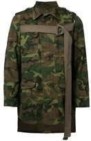 Miharayasuhiro camouflage print asymmetric jacket
