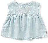 Levi's Baby Girls 12-24 Months Embroidered Peasant Top