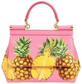 Dolce & Gabbana Small Sicily Pineapples Leather Bag