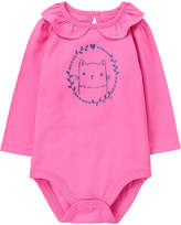 Gymboree Pink Cat Ruffle-Collar Bodysuit - Infant