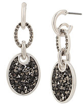 Kenneth Cole New York Sprinkle Stone Oval Drop Earrings