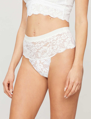 We Are HAH Spin Me high-rise stretch-lace briefs