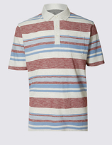 M&s Collection Regular Fit Striped Polo Shirt