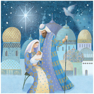 Simson Ovarian Cancer Research Foundation Charity Christmas Boxed Cards, Mary & Joseph - 10