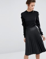 Warehouse Long Sleeve Sweater with Frill Sleeves