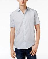 Michael Kors Men's Samson Short-Sleeve Dash-Pattern Cotton Shirt