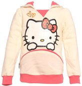 Hello Kitty Little Pink Kitty Face Print Ears Hoodie Fashion Top