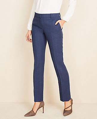 Ann Taylor The Petite Straight Pant in Glen Plaid - Curvy Fit