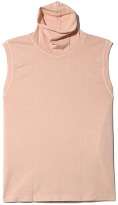 Raquel Allegra Sueded Baby Jersey Turtleneck in Blush