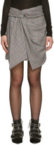 Isabel Marant Black Houndstooth Kim Miniskirt