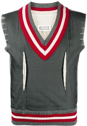 Maison Margiela Ribbed Edge Vest Jumper