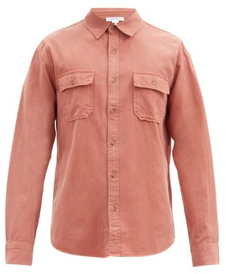 Frame Patch-pocket Lyocell-blend Twill Shirt - Dark Orange