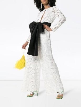 Rosie Assoulin Floral Lace Jumpsuit