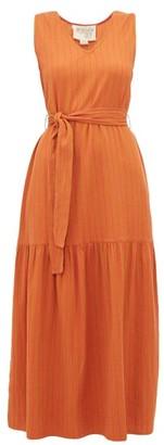 Ace&Jig Julien Ginger-weave Cotton Dress - Red Multi