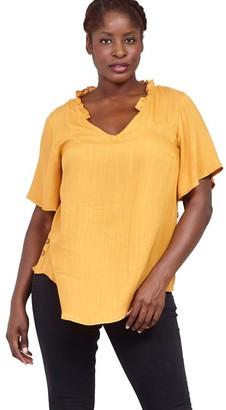 M&Co Izabel Curve ruffle neck blouse