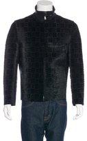 Gucci Ponyhair-Paneled Leather Jacket