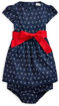 Ralph Lauren Childrenswear Baby Girl's 2-Piece Anchor-Print Dress Bloomers Set
