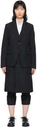 Comme des Garcons Black Double Layer Blazer Coat