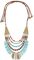 Nakamol Multilayer Turquoise Magnesite & Leather Necklace
