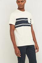 Farah Limestone Marl Striped Pocket T-shirt