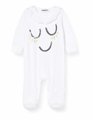 MEK Baby Girls' Tutina Jersey Rouches Al Collo Playsuit