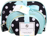 Adrienne Vittadini Dome Shaped with Bow - Blue/Polka Dot 3 Pc Set