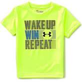 Under Armour Little Boys 2T-7 Wake Up Win Repeat Short-Sleeve Tee