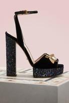 Gucci Velvet platform sandals