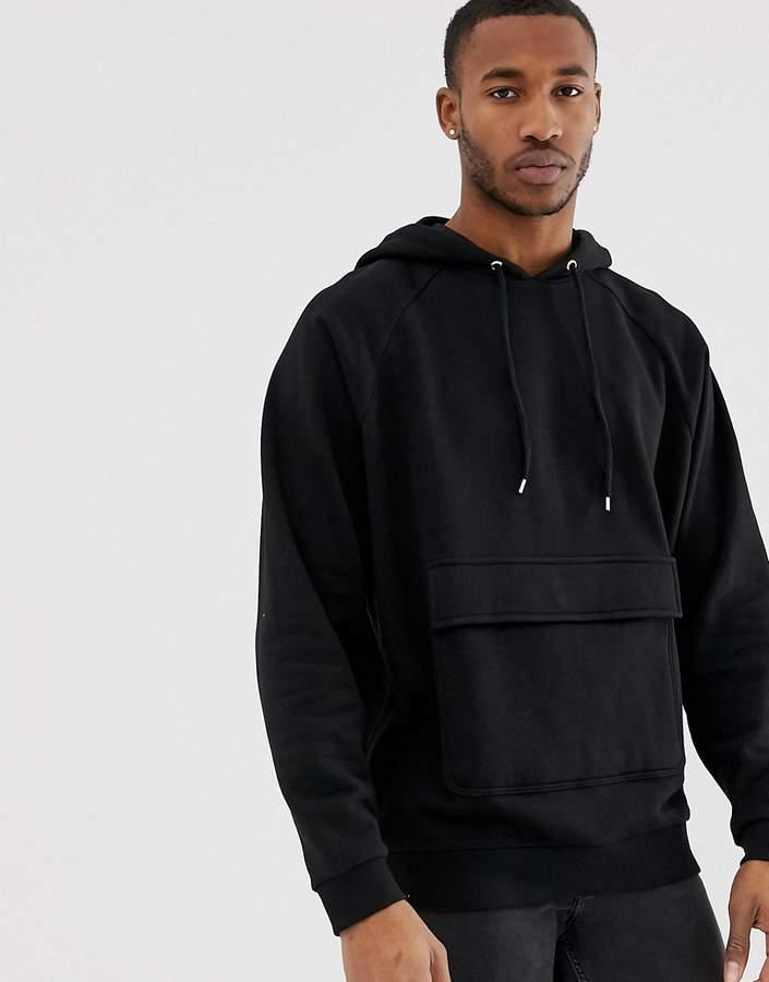 6d37282bf Men No Pocket Hoodie Black - ShopStyle