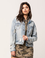 Vanilla Star Premium Destructed Womens Denim Jacket