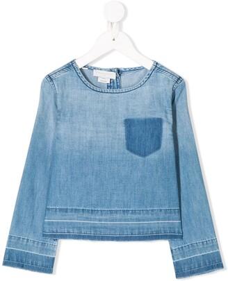 Stella McCartney Kids long sleeve faded T-shirt
