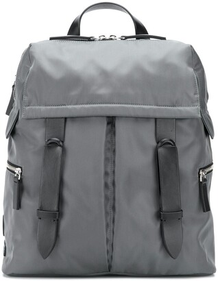 Orciani Double Buckle Medium Backpack