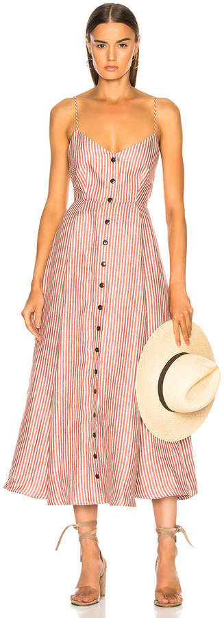 Mara Hoffman Morgan Dress in White & Brown   FWRD