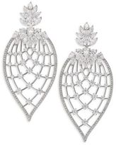 Adriana Orsini Magnolia Crystal Petal Drop Earrings