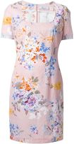 Blumarine floral print square neck dress - women - Cotton/Polyamide - 48