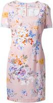 Blumarine floral print square neck dress
