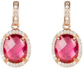 Latelita Beatrice Oval Gemstone Drop Earring Rose Gold Pink Tourmaline