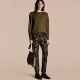 Burberry Crew Neck Cashmere Sweater, Green