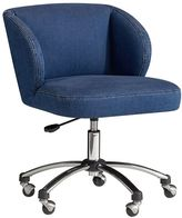 Washed Denim Wingback Desk Chair