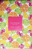 Isaac Mizrahi Indoor / Outdoor Summer Fabric Tablecloth Citrus Fruit Pattern Limes Lemons Oranges Cherries on White 60 Inches by 84 Inches