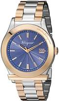 Salvatore Ferragamo Men's FF3240015 1898 Analog Display Quartz Two Tone Watch