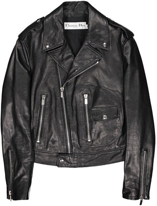 Christian Dior Black Leather Jackets