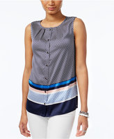 Tommy Hilfiger Sleeveless Printed Blouse