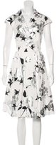 Lela Rose Floral Print A-Line Dress w/ Tags