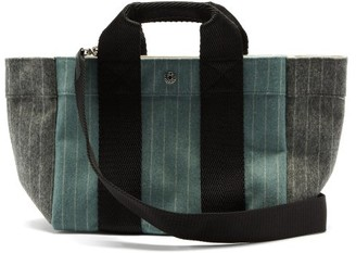 Rue De Verneuil - Parcours Small Pinstriped Wool-blend Tote Bag - Blue Multi